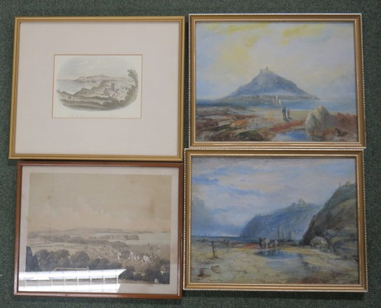 Lot 122 - After Lady Elton - a print titled The Coast at Clevedon, Looking South West to the Church Hill,