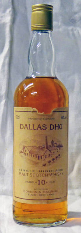 Lot 4013 - 1 BOTTLE DALLAS DHU 10 YEAR OLD SINGLE MALT WHISKY BOTTLED BY GORDON & MACPHAIL - 70CL,