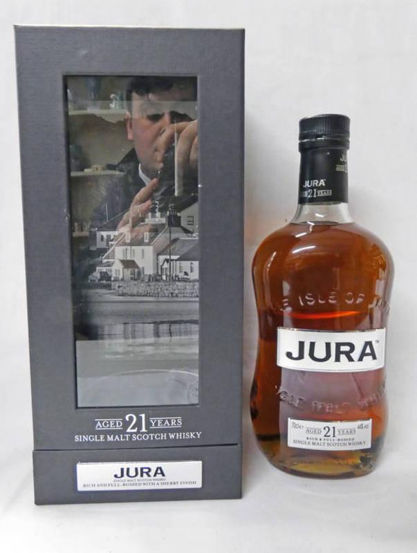 Lot 4004 - 1 BOTTLE JURA 21 YEAR OLD SINGLE MALT WHISKY - 70CL, 44% VOL,