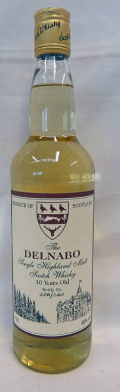 Lot 4040 - 1 BOTTLE TAMNAVULIN THE DELNABO 10 YEAR OLD SINGLE MALT WHISKY - 70CL,