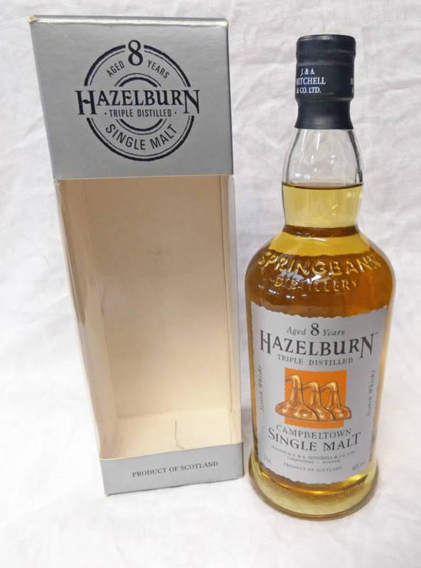 Lot 4026 - 1 BOTTLE HAZELBURN 8 YEAR OLD SINGLE MALT WHISKY - 70CL, 46% VOLUME,