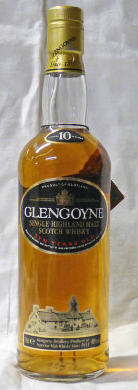 Lot 4001 - 1 BOTTLE GLENGOYNE 10 YEAR OLD SINGLE MALT WHISKY - 70CL,