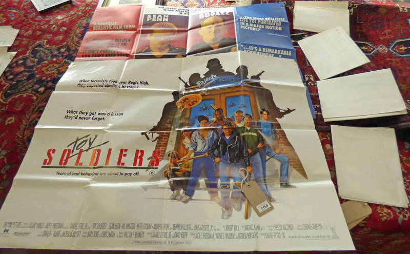 Lot 1169 - 6 QUAD FILM POSTERS TO INCLUDE TOY SOLDIERS, COLORS, 2 STAKE OUT POSTERS,