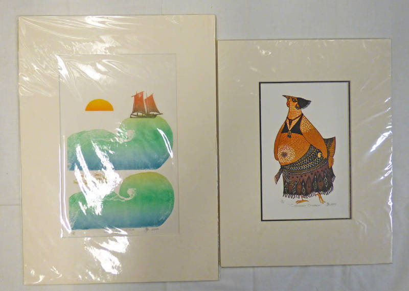 Lot 6001 - SELECTION OF 7 PRINTS TO INCLUDE 'CIRCASSIAN CHICKEN' & 'CREST OF THE WAVE', ALL NUMBERED,