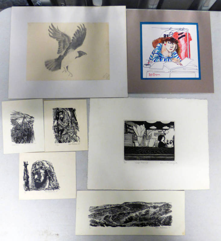 Lot 6434 - SELECTION OF PRINTS, WATERCOLOURS, ETCHINGS BY VARIOUS ARTISTS TO INCLUDE PETER REDDICK,