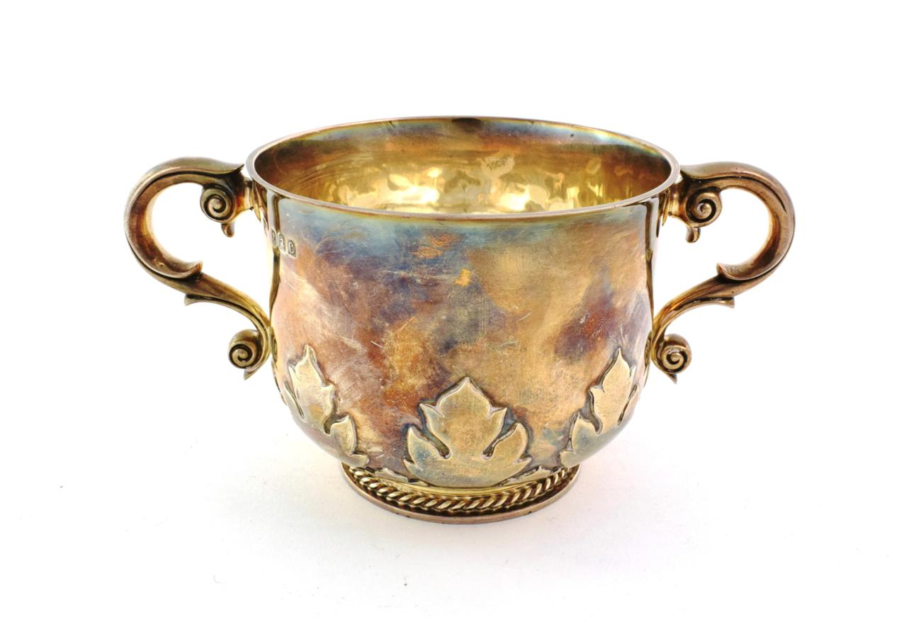 Lot 53 - A Victorian Silver Porringer, by Gibson and Langman, London, 1898, Britannia Standard, in the late