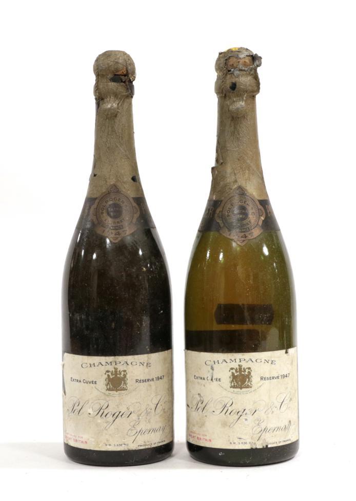 Lot 2012 - Pol Roger 1947 Reserve Champagne (two bottles)