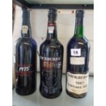 Lot 19 - Cockburn's Vintage Port, years 1975, 2015 and 1967