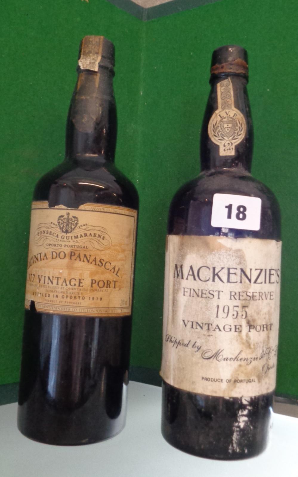 Lot 18 - Vintage Port - Quinta Do Panascal 1977 and Mackenzie's Finest Reserve 1955