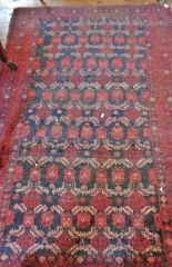 "Lot 9 - Antique Indian rug, approx 38"" x 60"""