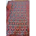 """Lot 9 - Antique Indian rug, approx 38"""" x 60"""""""