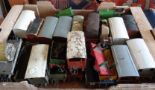 "Lot 10 - Meccano Hornby ""O"" gauge box of carriages, rolling stock, engine etc."
