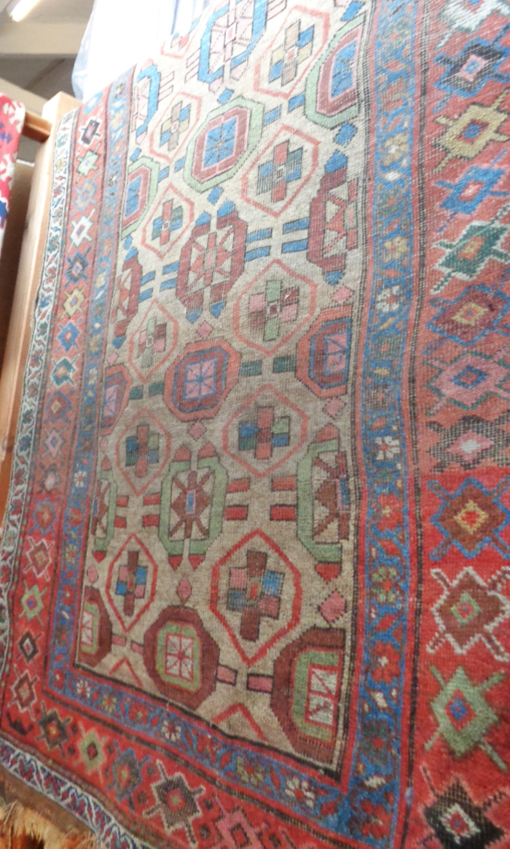 "Lot 2 - Antique Caucasian rug, approx 52"" x 100"""