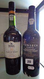 Lot 20 - Vintage Port -Noval 10 year old Tawny, and Fonseca Guimaraens 1986