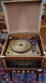 Lot 55 - 1940s/50s Columbia radiogram on Dansette type legs