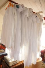 Lot 15 - Vintage clothing: Large quantity of Victorian and Edwardian cotton and silk christening gowns