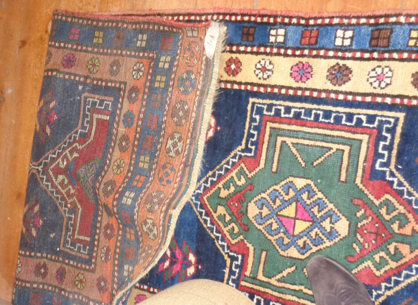 """Lot 5 - Contemporary Kazak runner carpet, approx 37"""" x 100"""""""