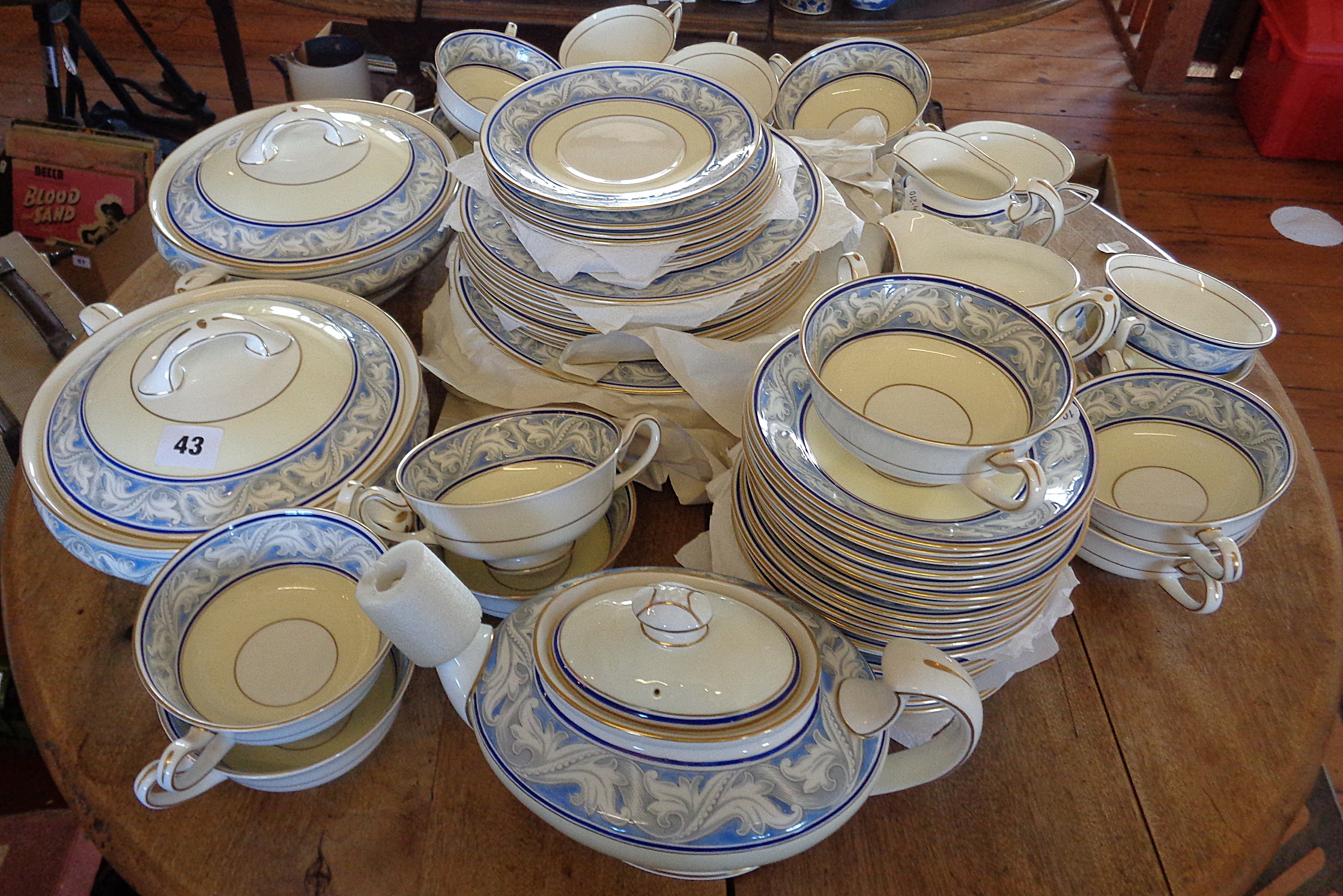 """Lot 43 - Extensive Royal Doulton """"Tewkesbury"""" china dinner and tea service, over 64 pieces, inc. two tureens,"""