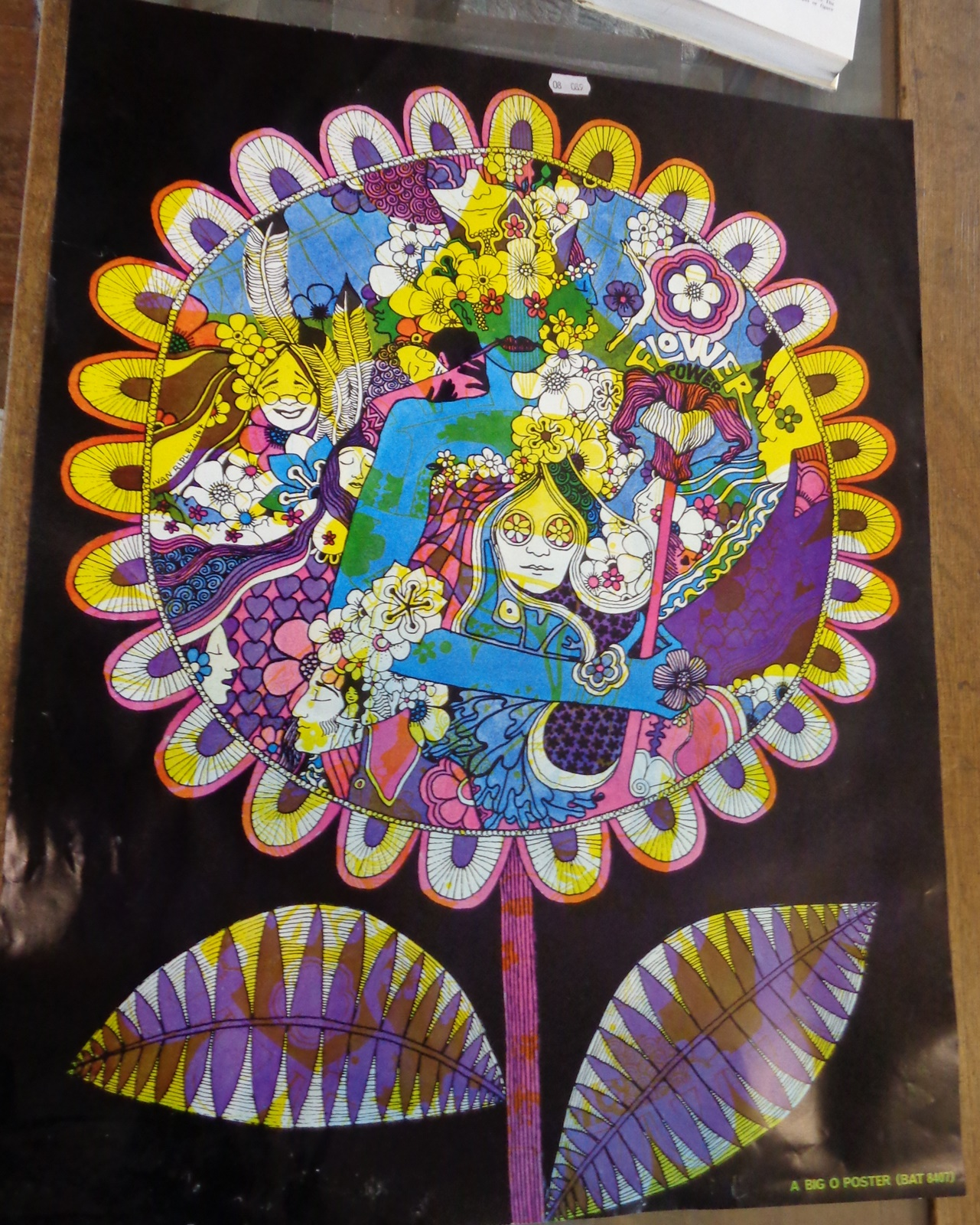 Lot 122 - 1960's psychedelic flower power Rock poster by Ivan Ripley