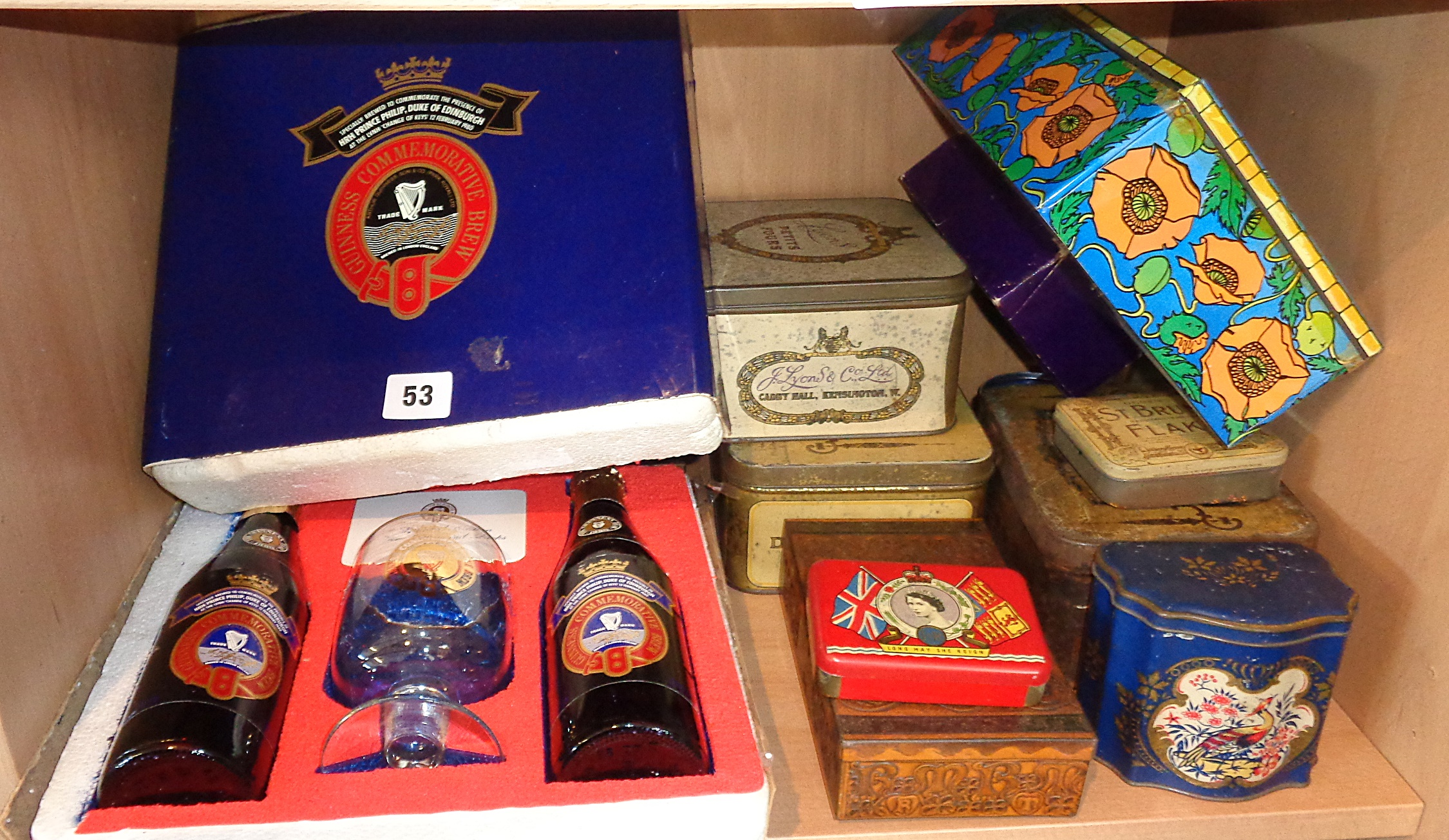 Lot 53 - Guinness commemorative pack, limited edition, LNVH 1980 celebration and assorted old tins