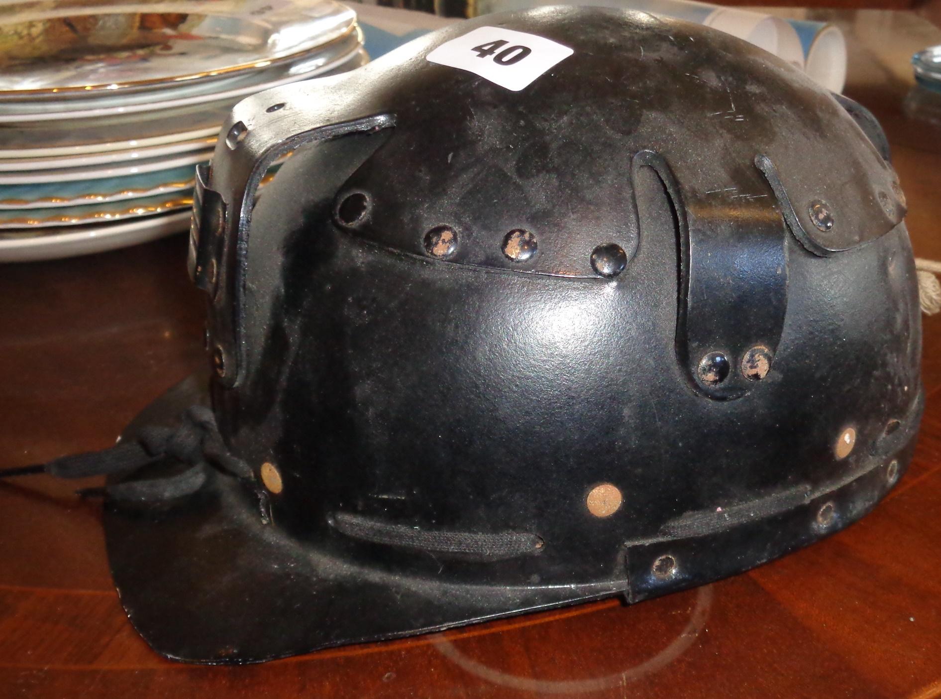 Lot 40 - Patented 'Pulp' cardboard miner's or pot holer's safety helmet