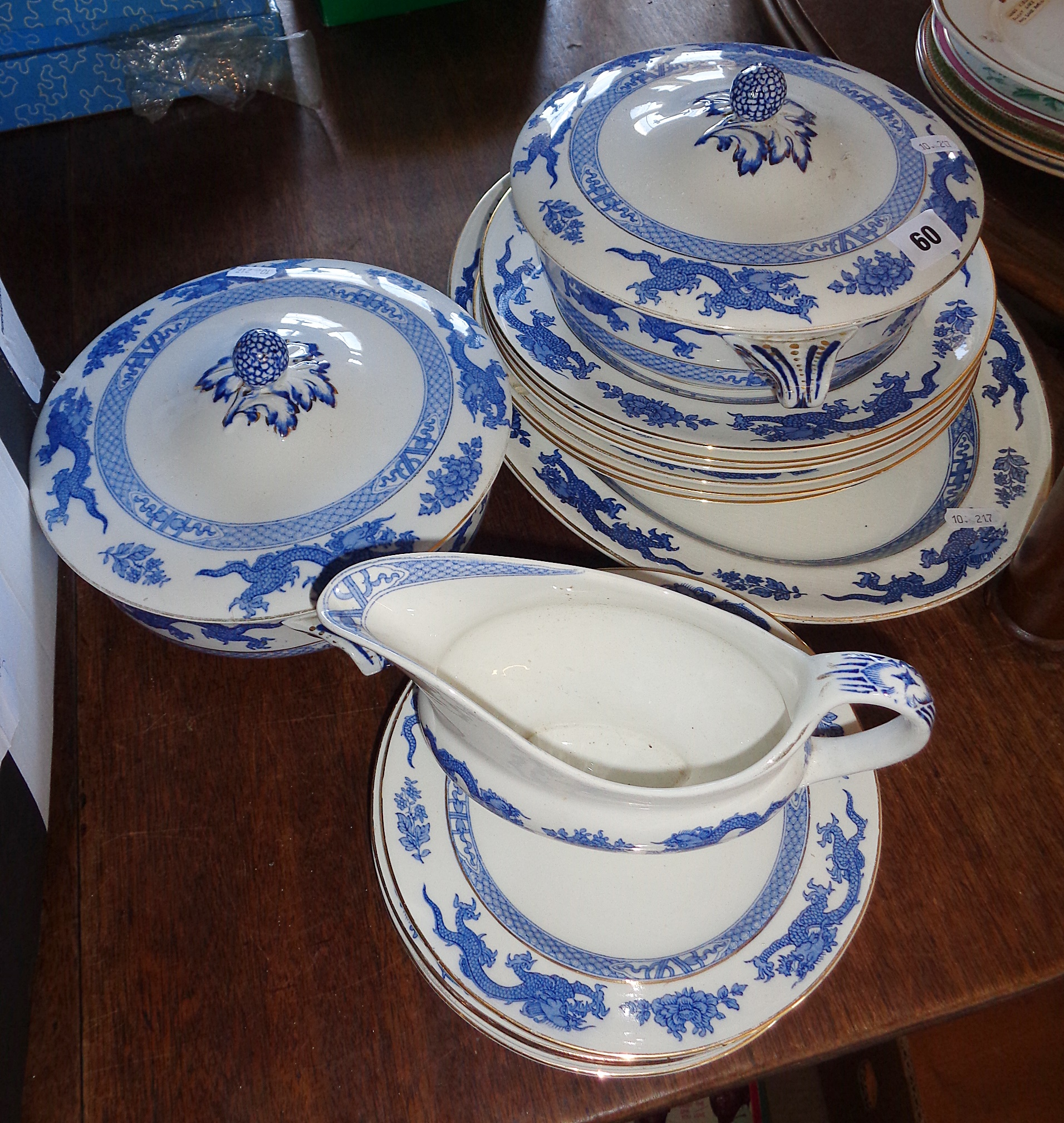 Lot 60 - Booths silicon china dinnerware, pattern no. 9780