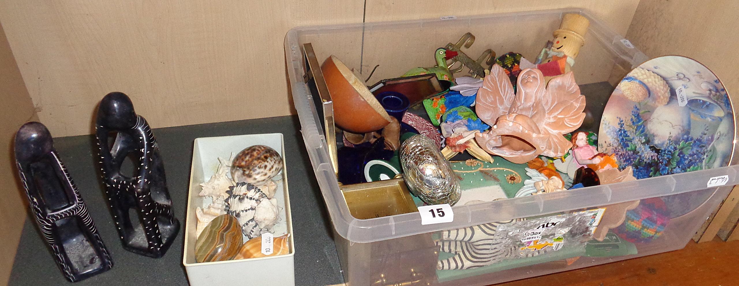 Lot 15 - Shelf of miscellaneous items