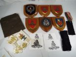 Lot 41A - Military Collectables - a good collection of six military wall plaques to include Manchester