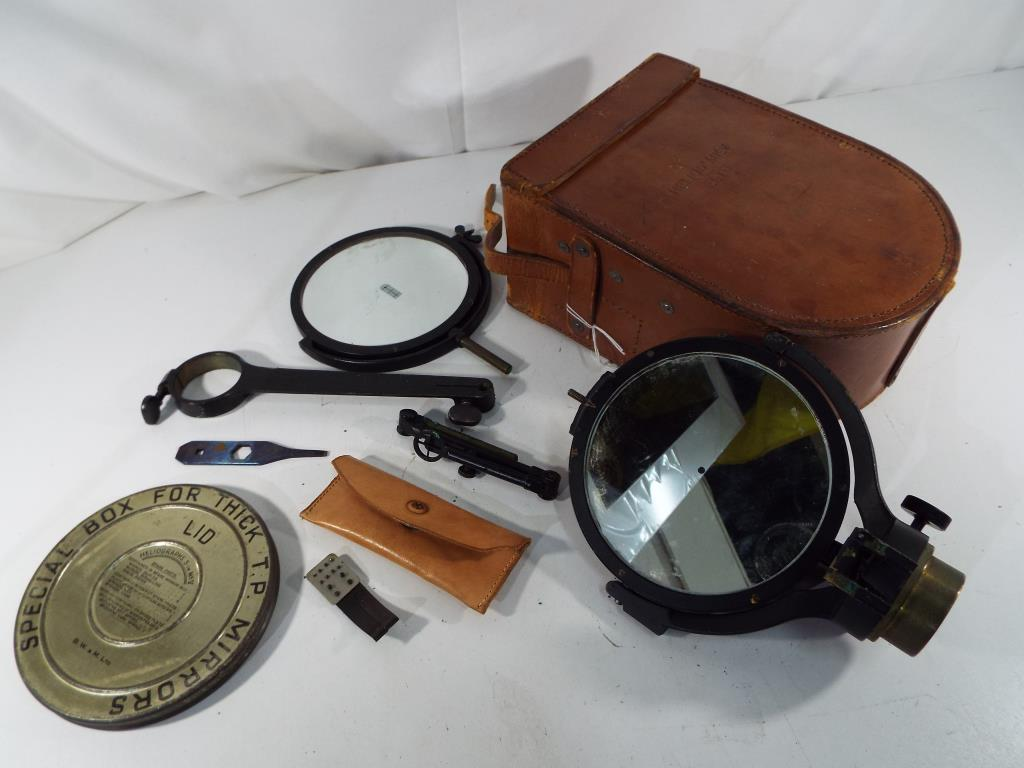 Lot 40A - Heliograph - an early 20th century British military issue Heliograph, the frame stamped Helio,