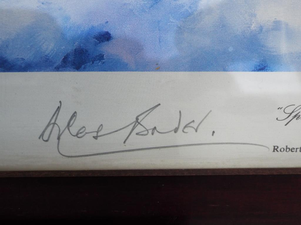 Lot 46 - Robert Taylor - a Robert Taylor print entitled Spitfire signed in pencil to the margin by the Group