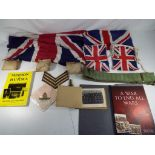 Lot 47 - A lot to include a collection of military related items comprising a book entitled Mission to Burma