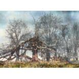 Lot 443 - Jack Frame ARR Framed oil on board 'Chilston Manor' 120cm x 150cm