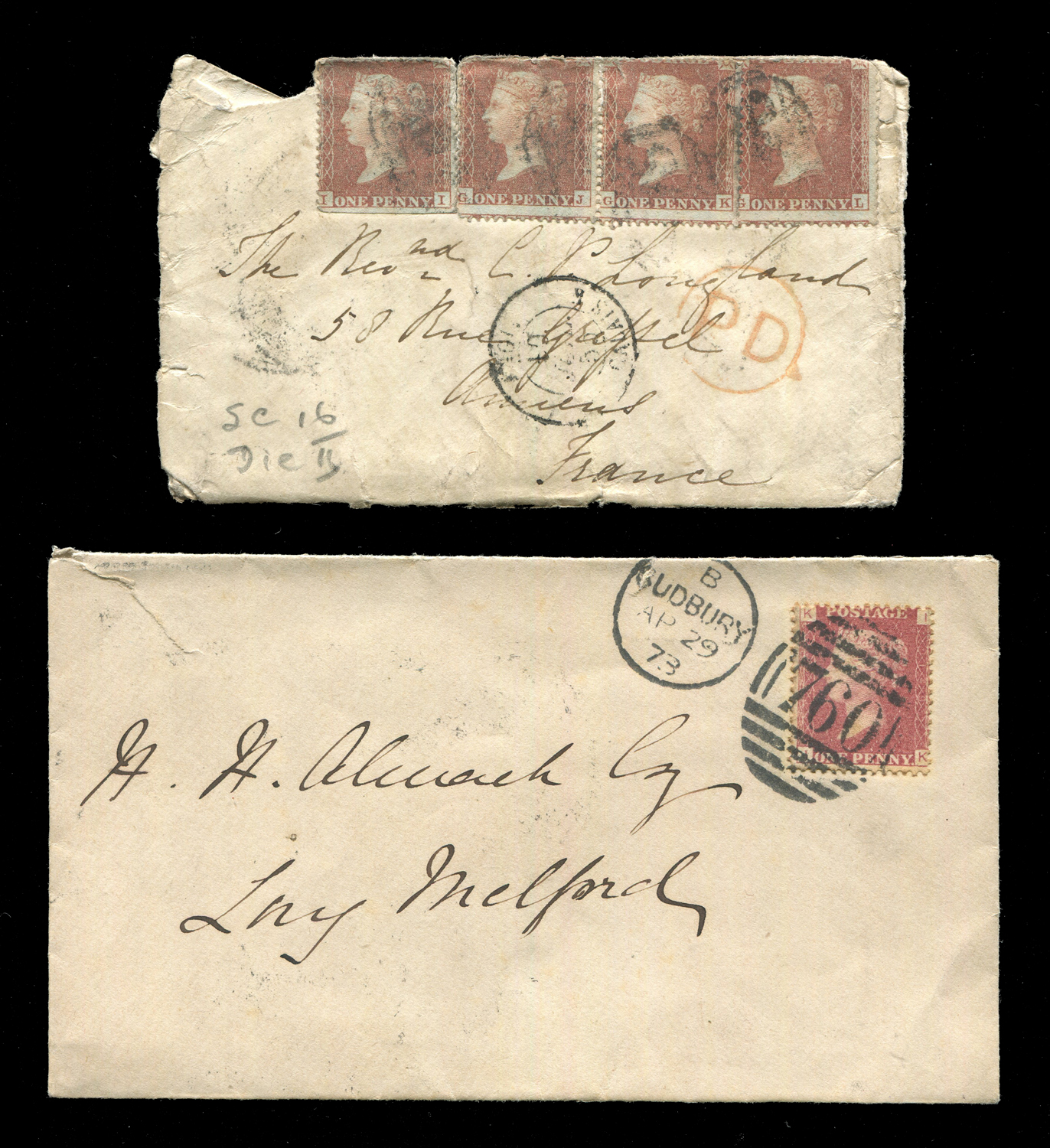 Lot 3056 - A collection of world stamps in two albums with Australia and Spain, Great Britain 1d red covers,