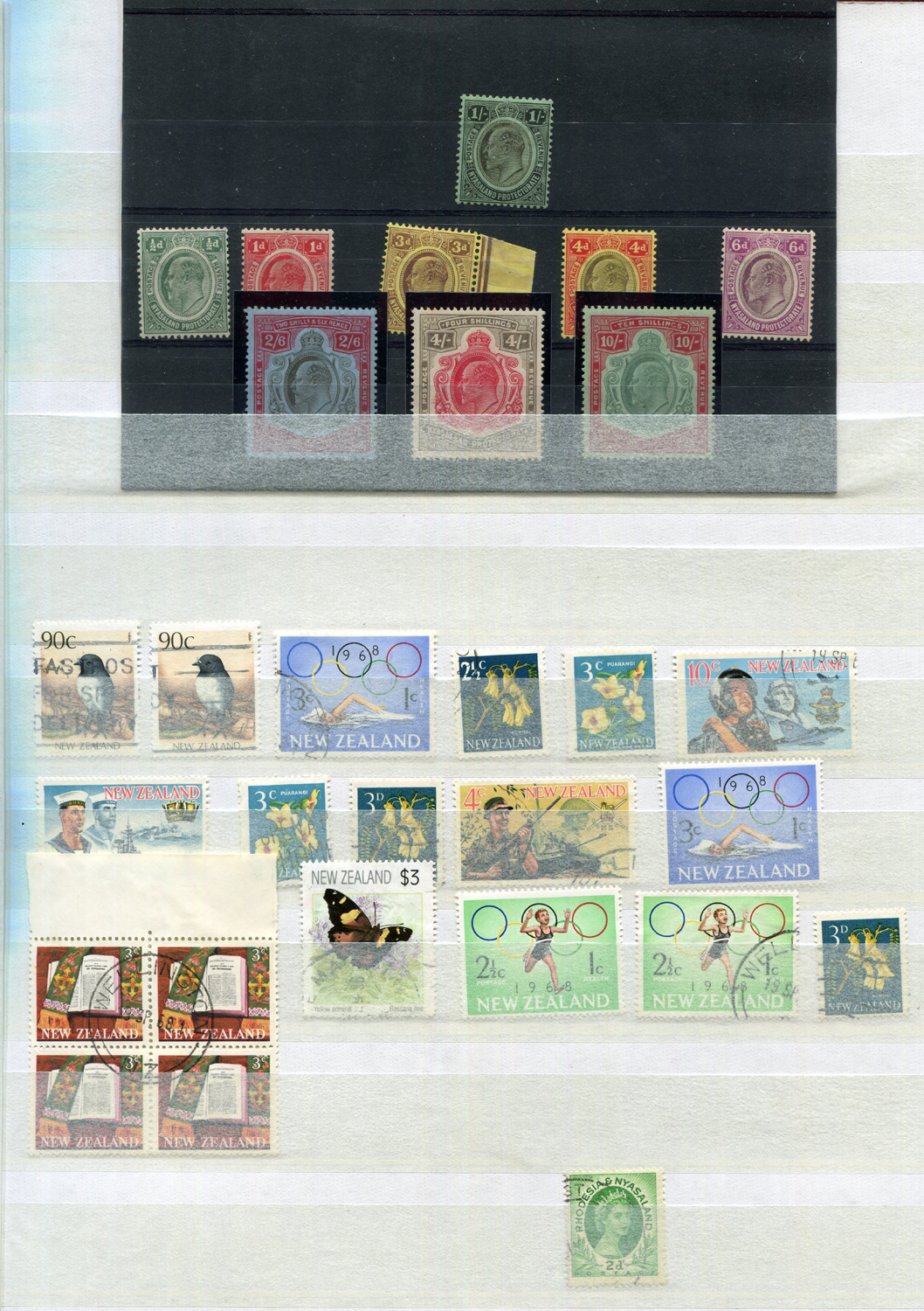 Lot 3050 - A stamp album and stock book with some loose pages, including Australia, British Commonwealth,