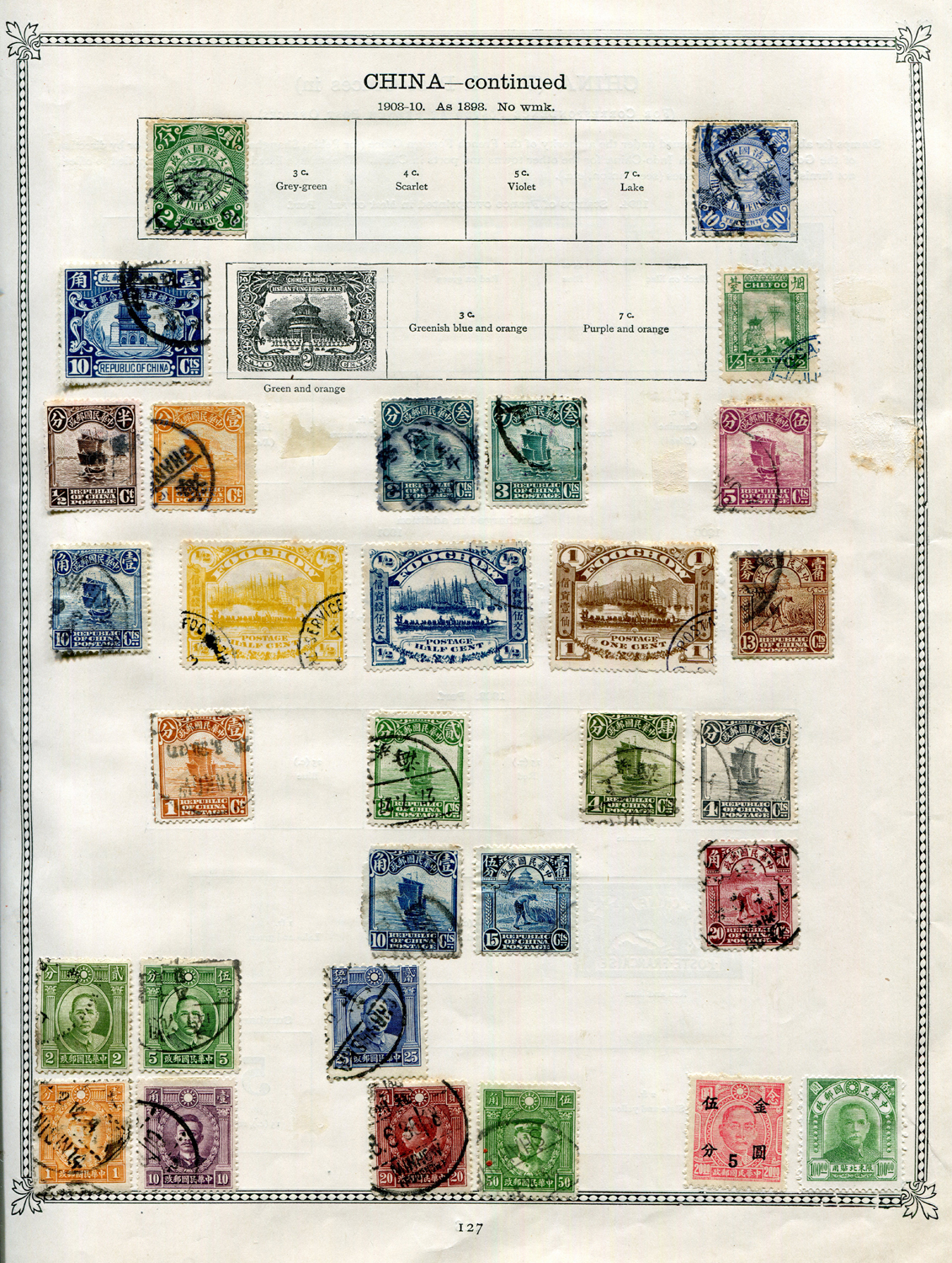 Lot 3024 - An Ideal stamp album 4th Edition 1912 with Brazil, France and Colonies, German States, Italy, Japan,