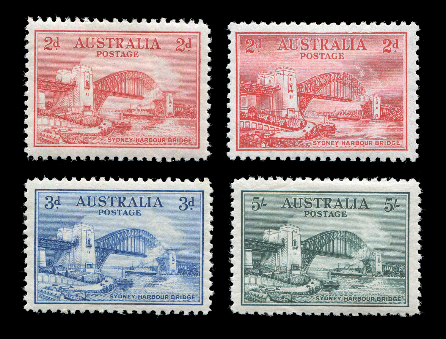 Lot 3013 - An Australia 1932 Sydney bridge set of 4 mint stamps.Buyer's Premium 29.4% (including VAT @ 20%)