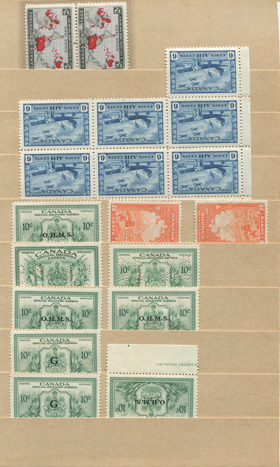 Lot 3025 - A stock album of mint Canada stamps, including 1897 Jubilee ½c to 15c, often several of each, George