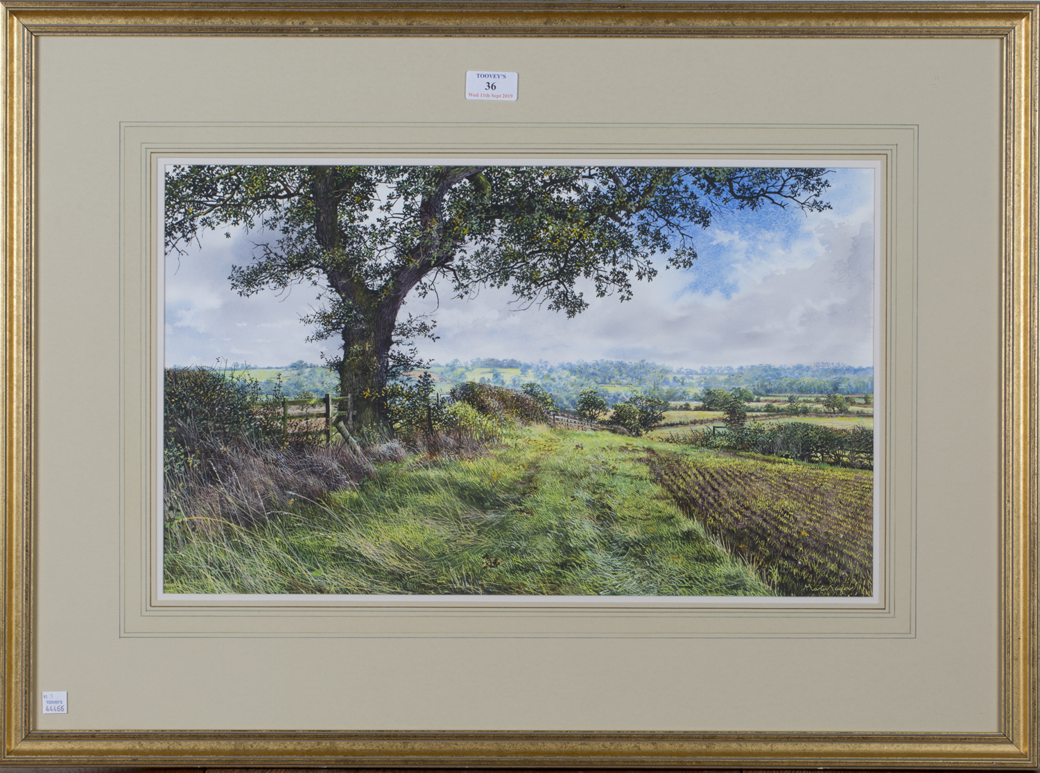 Lot 36 - Martin Taylor - 'Towards Althorpe, Boys day out looking for Horseshoes', 20th century watercolour