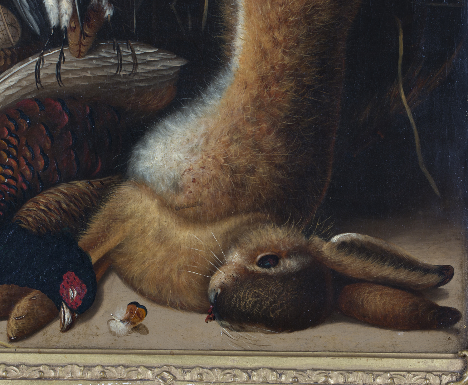 Lot 58 - Attributed to William Buelow Gould - Still Life with Hare, Snipe, Pheasant and a Basket of Eggs,