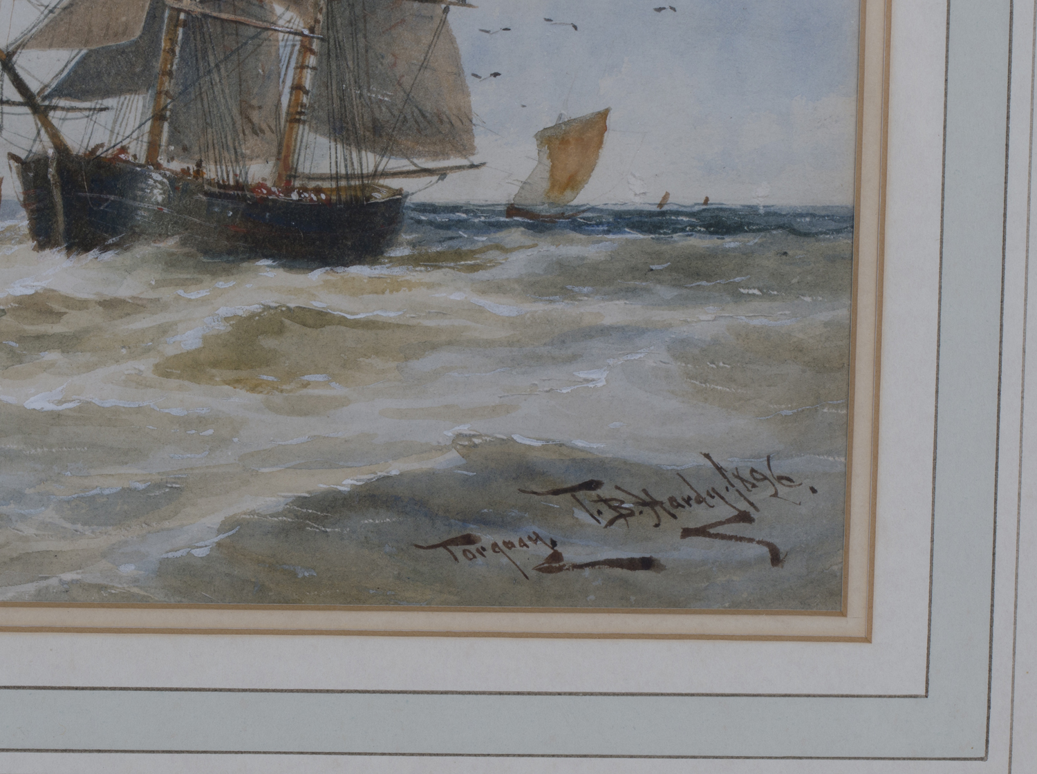 Lot 24 - Thomas Bush Hardy - 'Torquay', watercolour, signed, titled and dated 1896, 23cm x 48.5cm, within a