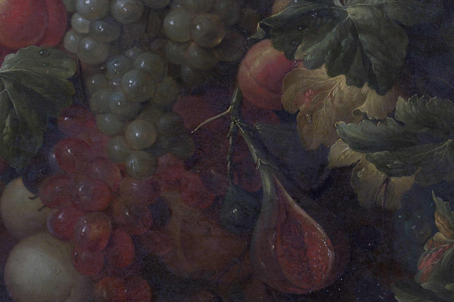 Lot 3 - Follower of Joris van Son - Still Life with Grapes, Peaches, Summer Berries and Pomegranate, 19th