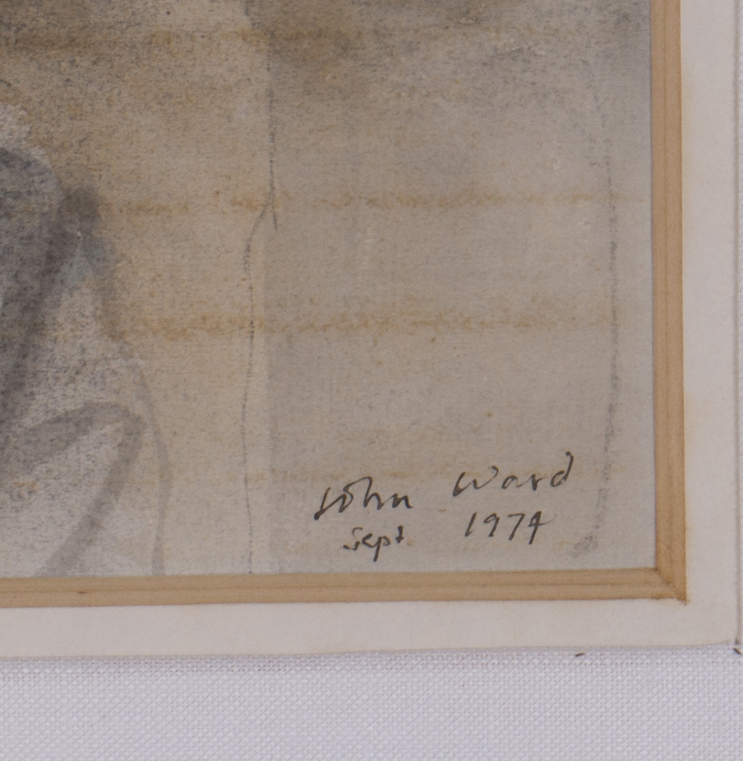 Lot 55 - John Stanton Ward - Portrait of a Girl, watercolour with ink, signed and dated 1974, 21.5cm x
