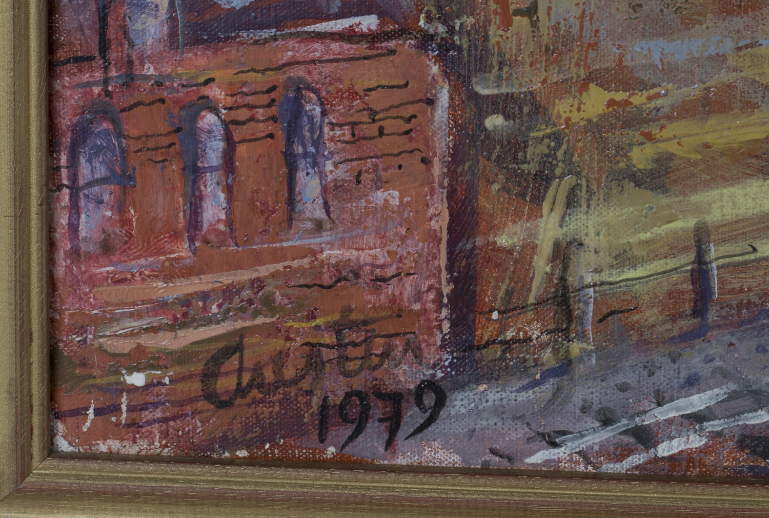 Lot 21 - Austin Taylor - 'Arundel', oil on canvas, signed and dated 1979 recto, titled verso, 90.5cm x 120.