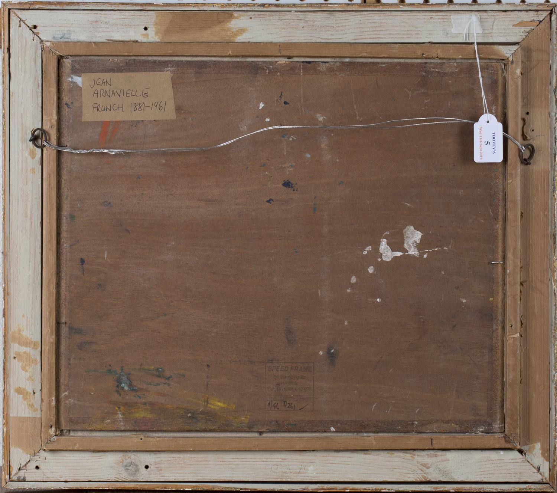 Lot 5 - Jean Arnavielle - Mediterranean Coastal Scene, 20th century oil on board, signed, 37cm x 44cm,