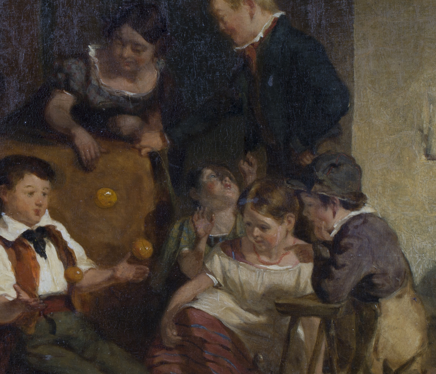 Lot 60 - Circle of David Wilkie - A Family Group in an Interior, 19th century oil on panel, 34.5cm x 27.