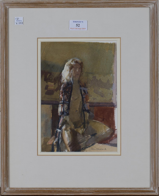 Lot 52 - Ken Howard - 'Marika III', 20th century watercolour, signed recto, titled to Business Art