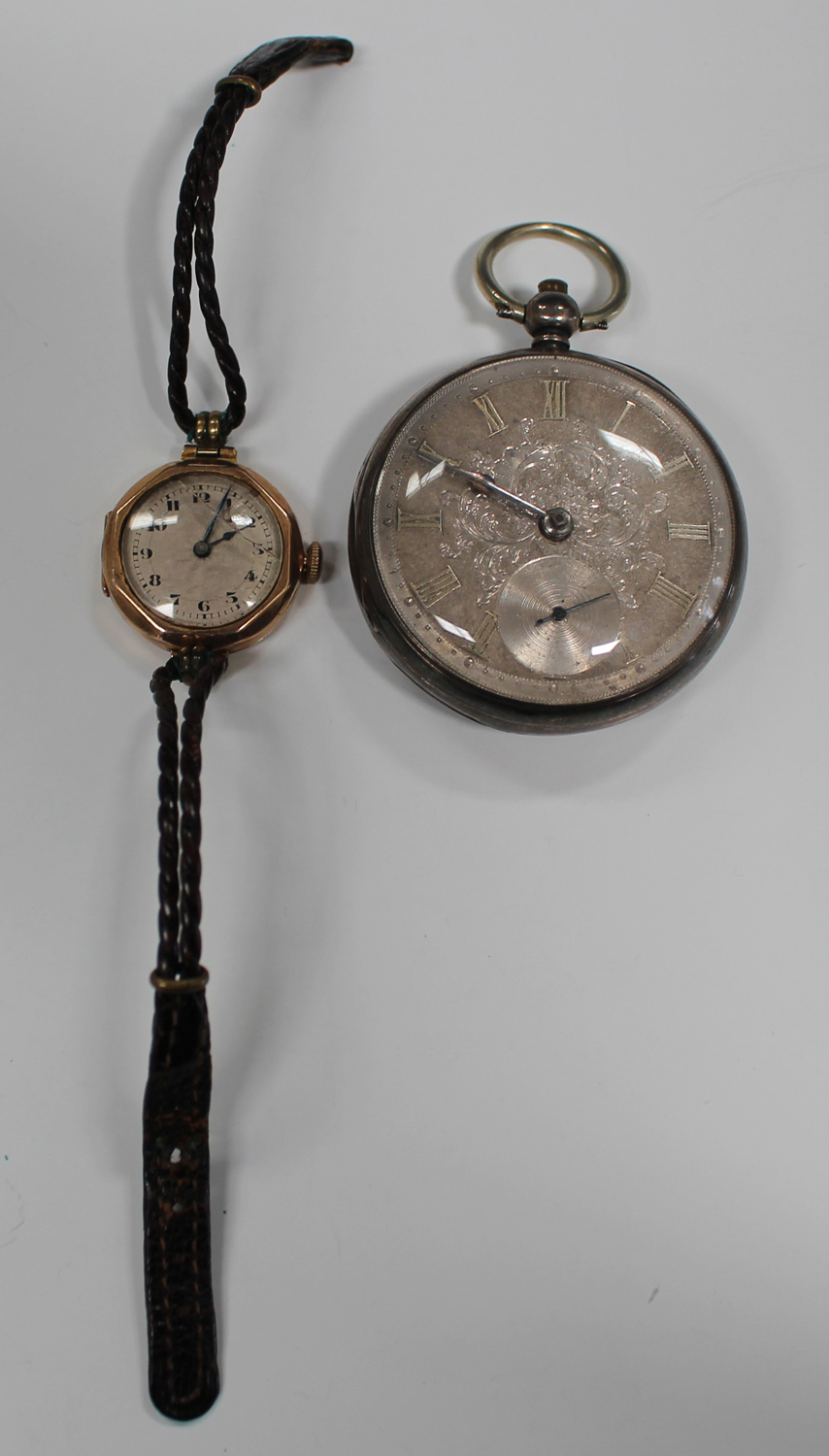 Lot 1004 - A silver cased keywind open-faced gentleman's pocket watch, the gilt fusee movement with a lever