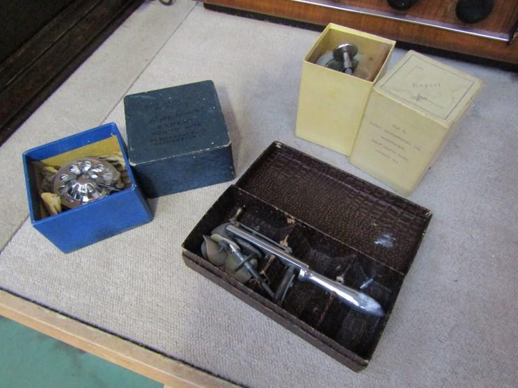 Lot 4053 - Two boxed gramaphone needle shapeners and an HMV soundbox