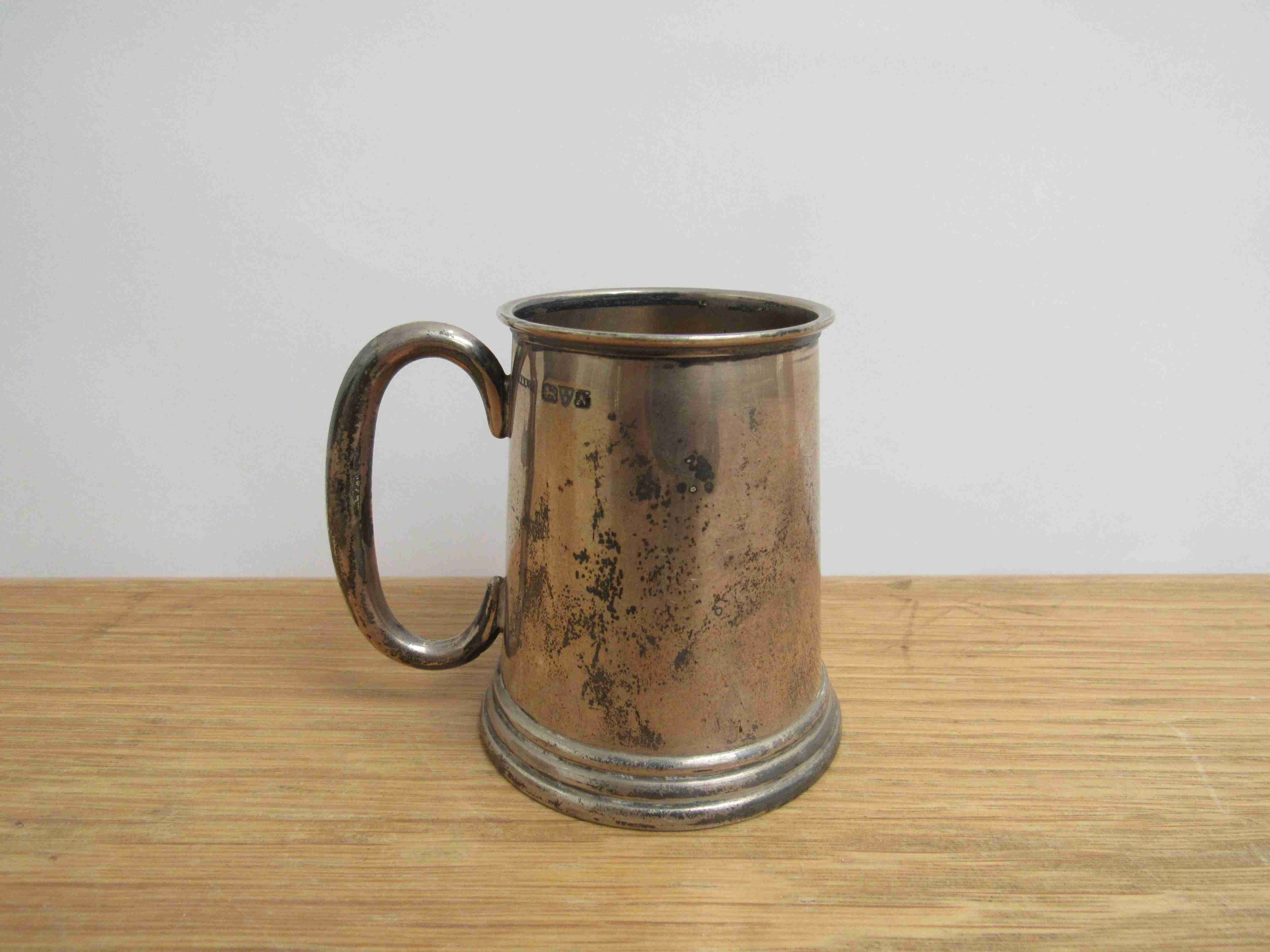 Lot 10 - A S Blanckensee and Son Ltd silver miniature tankard, Chester 1913, 7.