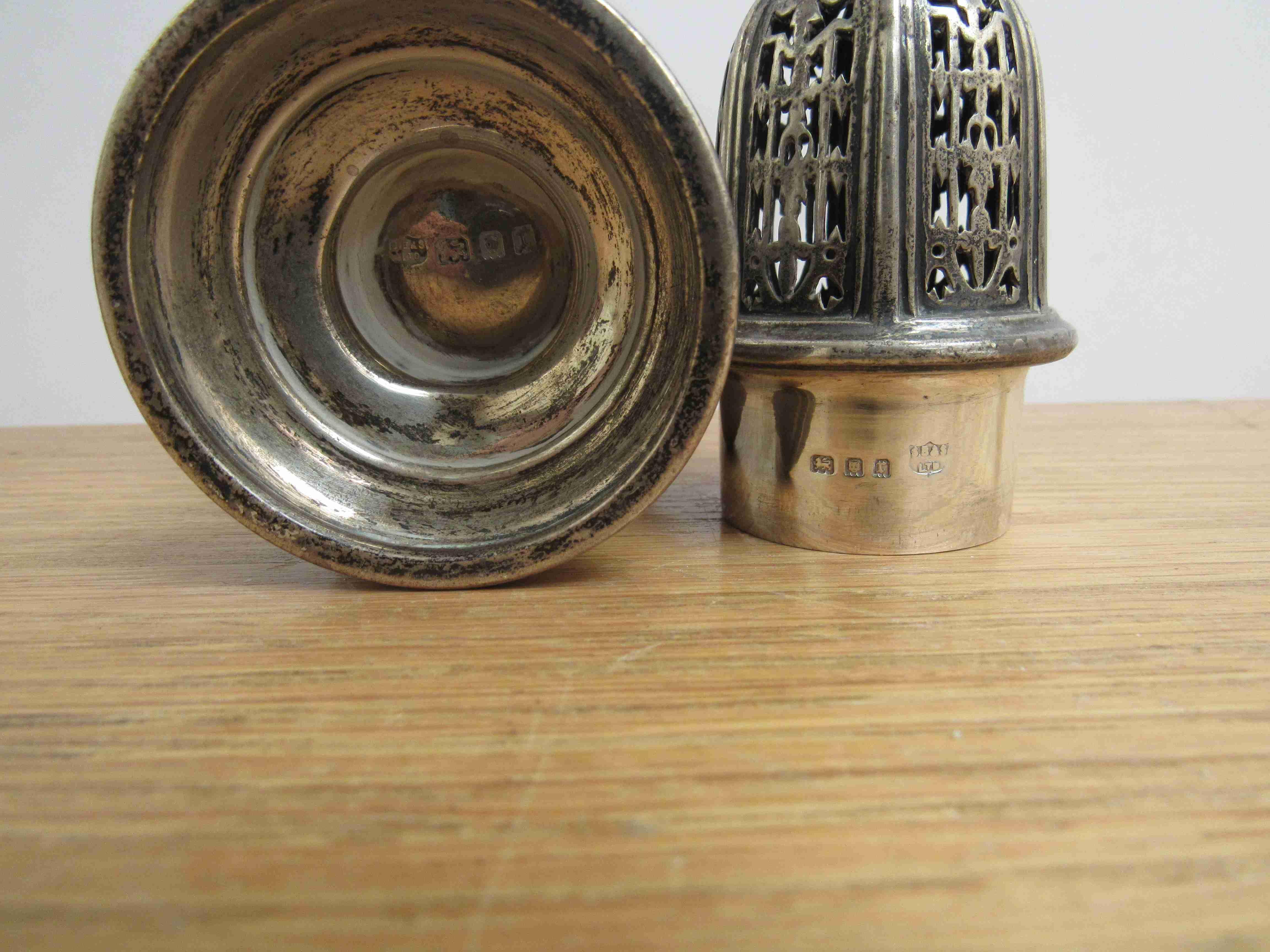 Lot 12 - A S Blanckensee and Sons Ltd silver sugar castor, London 1932, 18cm tall,